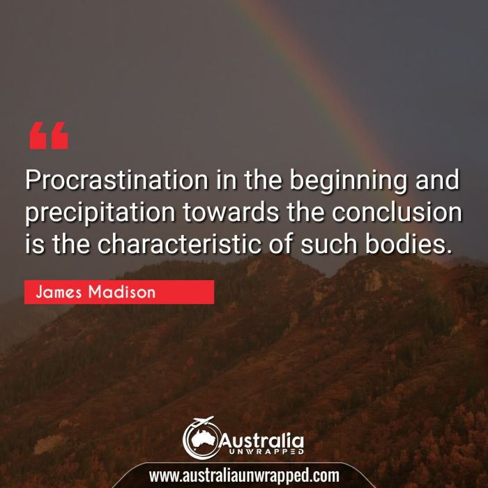Procrastination in the beginning and precipitation towards the conclusion is the characteristic of such bodies.