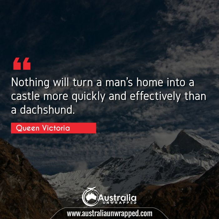 Nothing will turn a man's home into a castle more quickly and effectively than a dachshund.