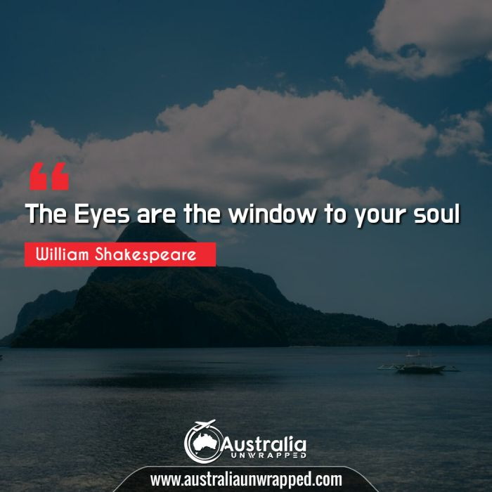 The Eyes are the window to your soul