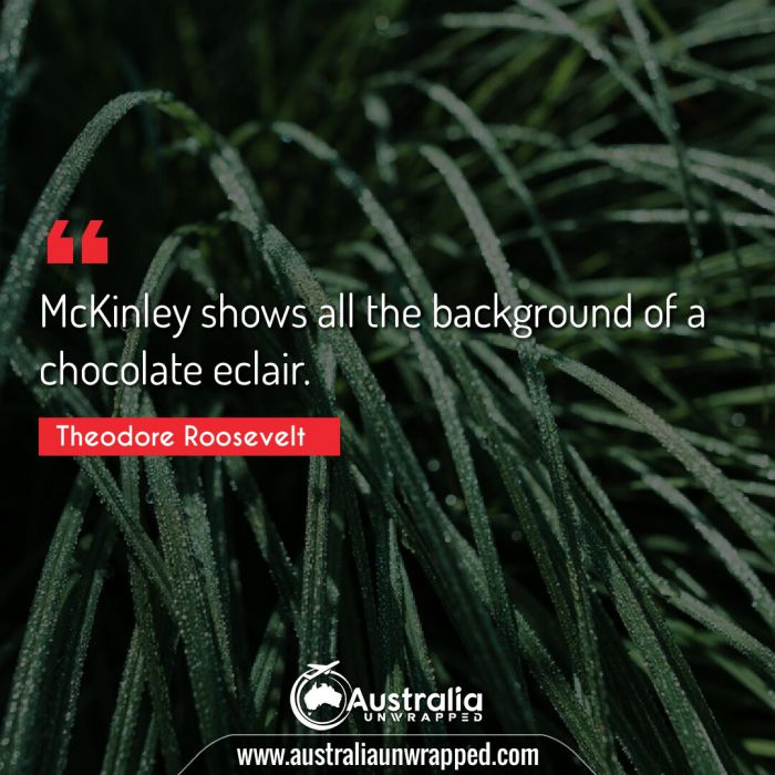 McKinley shows all the background of a chocolate eclair.