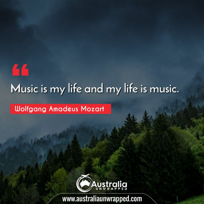 Music is my life and my life is music.