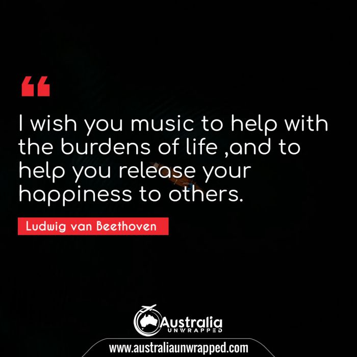 I wish you music to help with the burdens of life ,and to help you release your happiness to others.