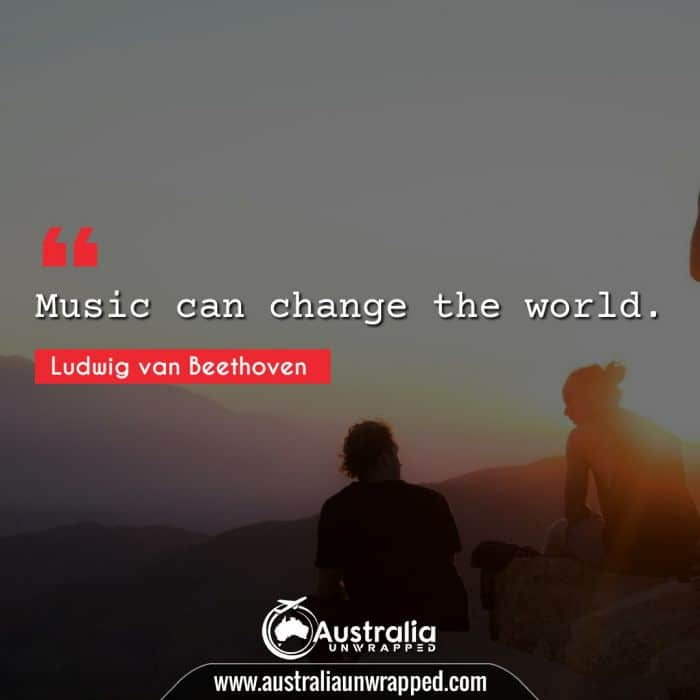 Music can change the world.
