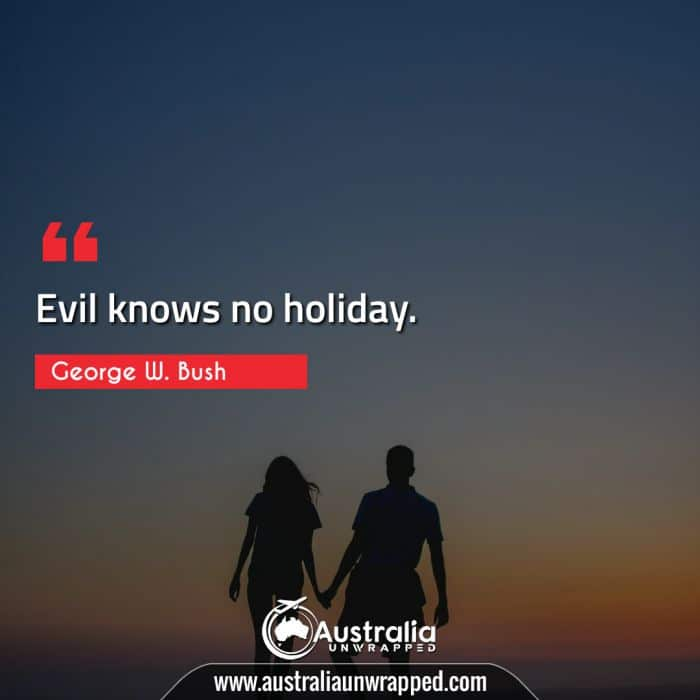 Evil knows no holiday.