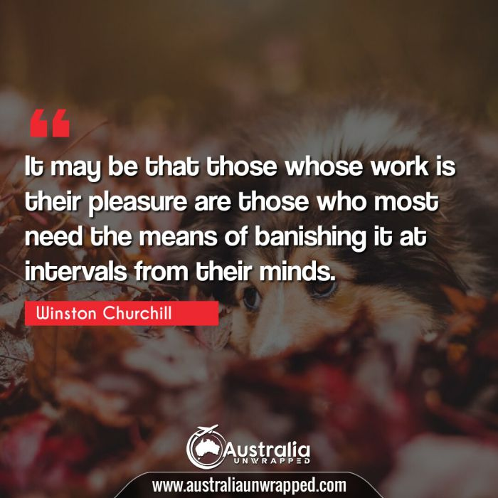 It may be that those whose work is their pleasure are those who most need the means of banishing it at intervals from their minds.