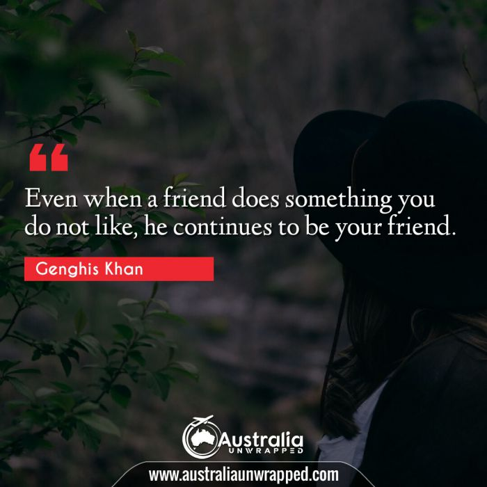 Even when a friend does something you do not like, he continues to be your friend.