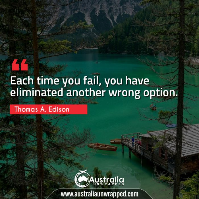 Each time you fail, you have eliminated another wrong option.