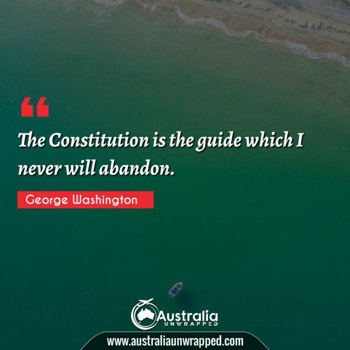 The Constitution is the guide which I never will abandon