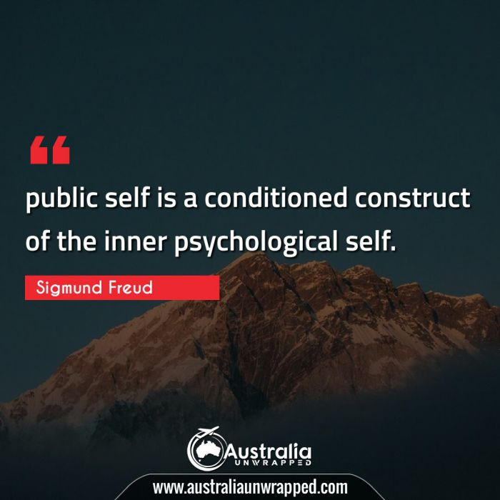 public self is a conditioned construct of the inner psychological self.