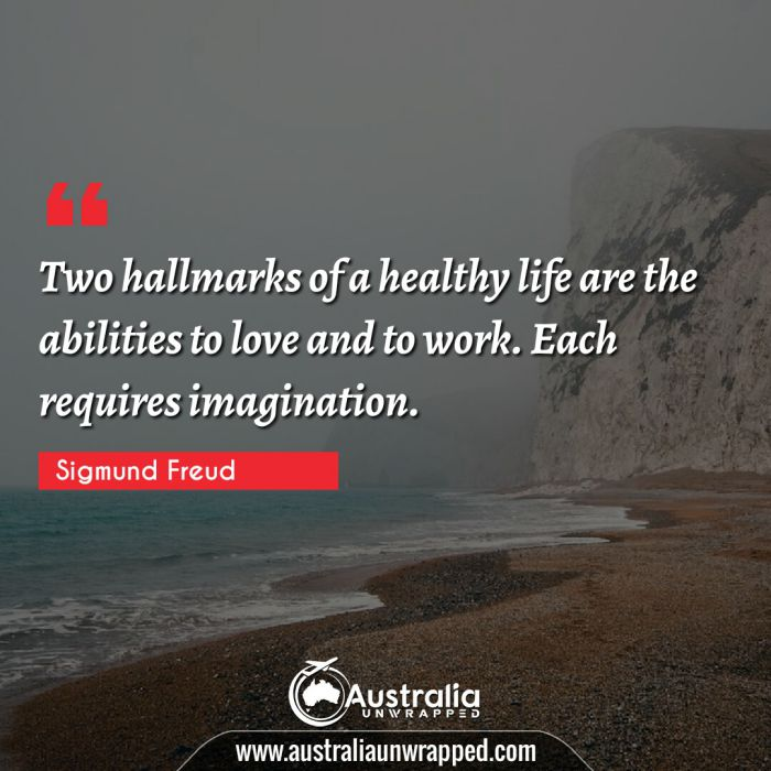 Two hallmarks of a healthy life are the abilities to love and to work. Each requires imagination.