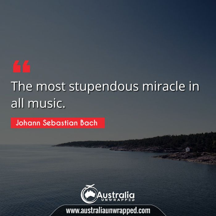 The most stupendous miracle in all music.