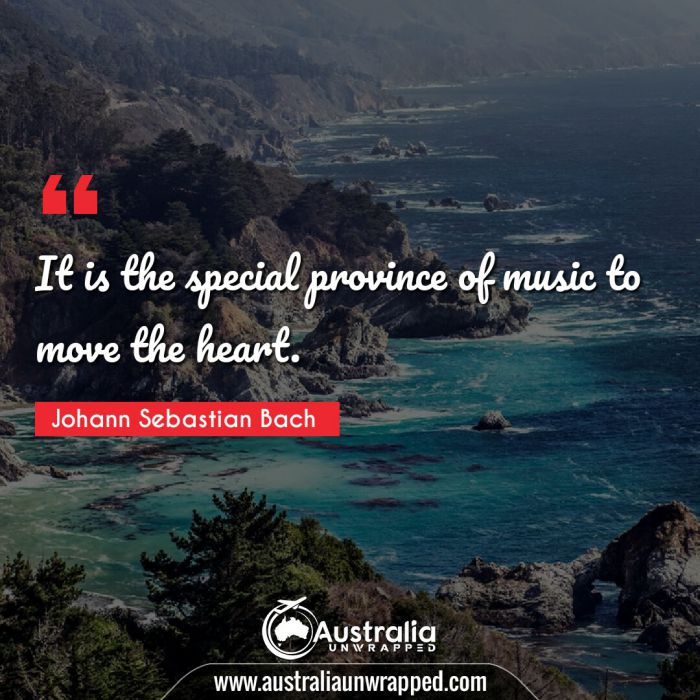 It is the special province of music to move the heart.