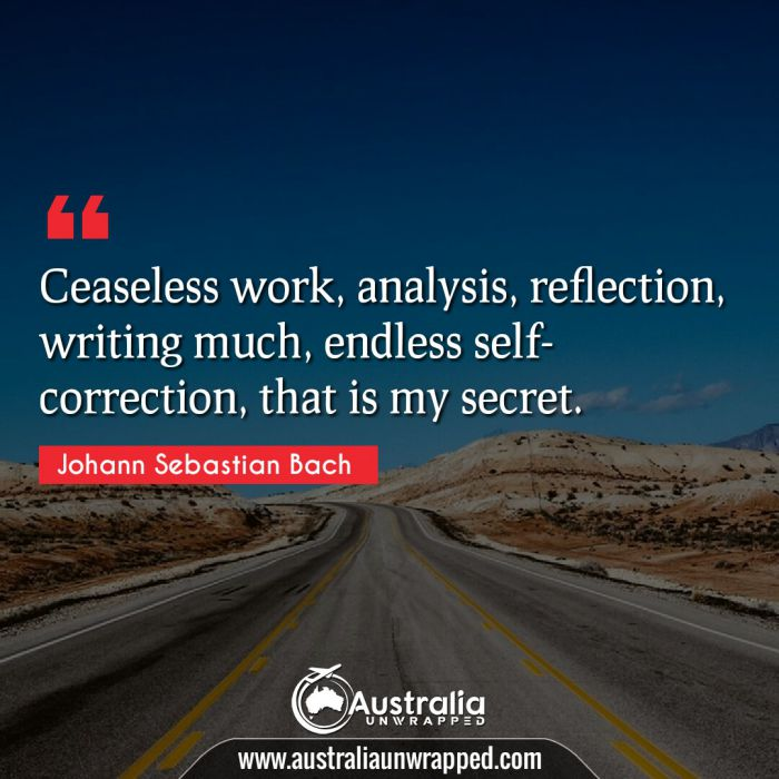 Ceaseless work, analysis, reflection, writing much, endless self-correction, that is my secret.