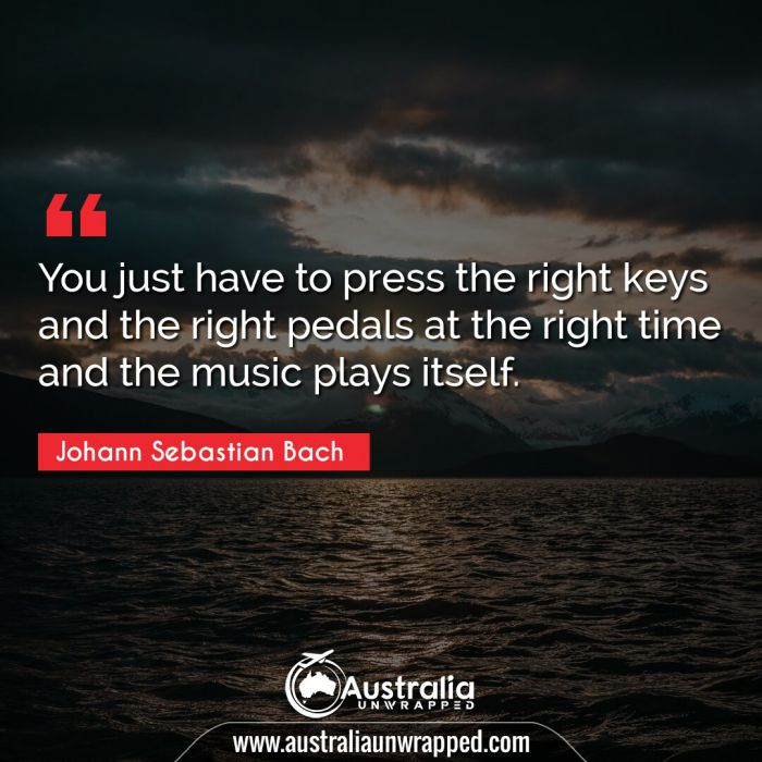You just have to press the right keys and the right pedals at the right time and the music plays itself.