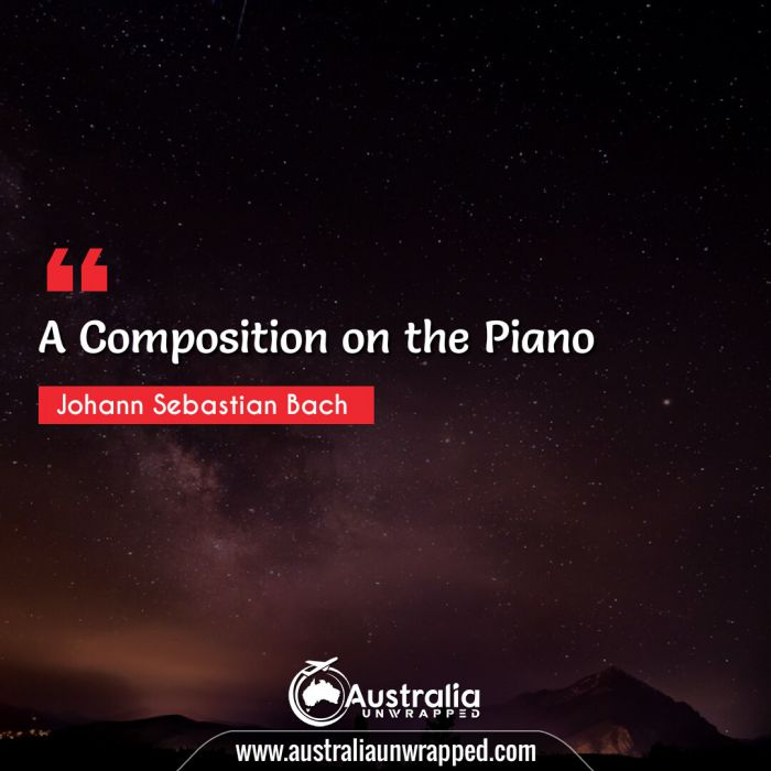 A Composition on the Piano