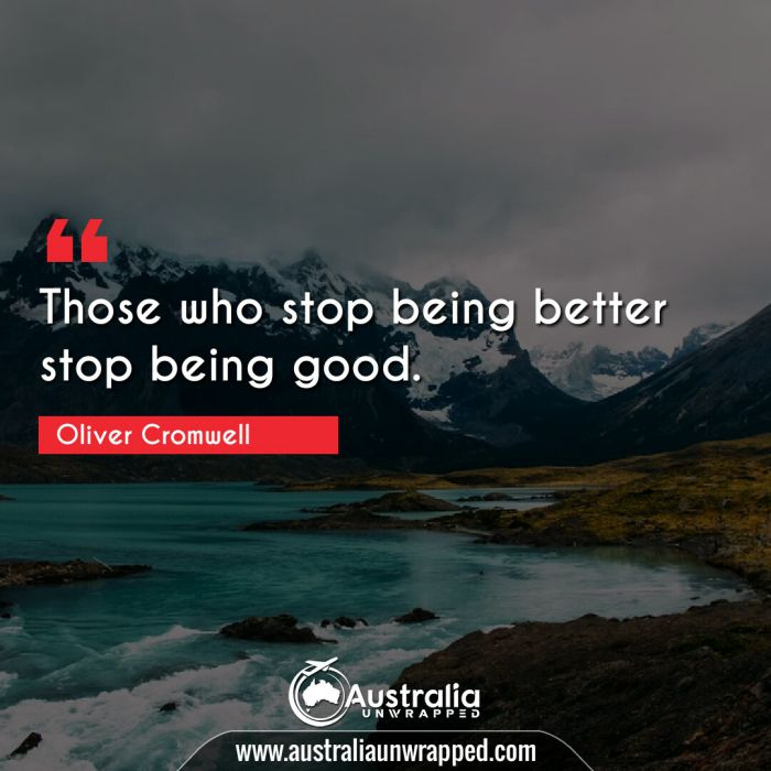 Those who stop being better stop being good.