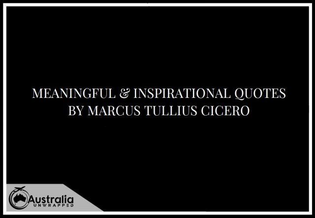 Meaningful & Inspirational Quotes by Marcus Tullius Cicero