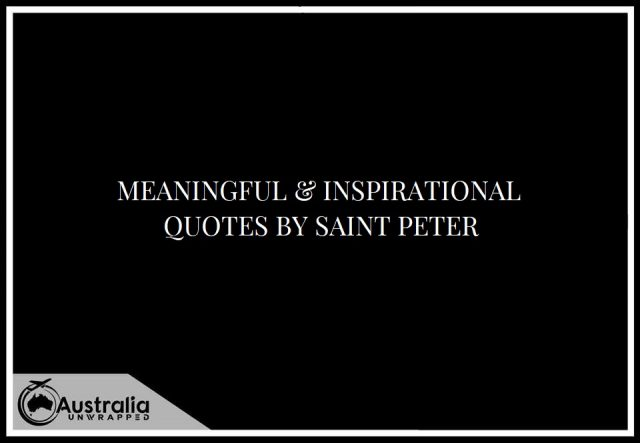 Meaningful & Inspirational Quotes by Saint Peter