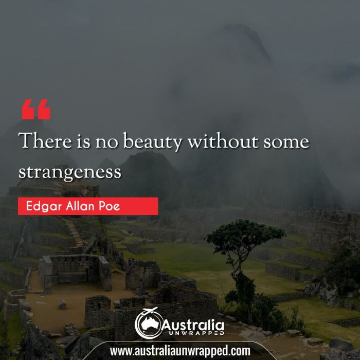 There is no beauty without some strangeness