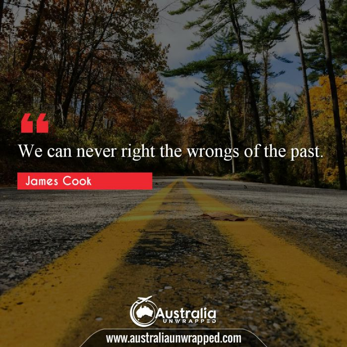 We can never right the wrongs of the past.