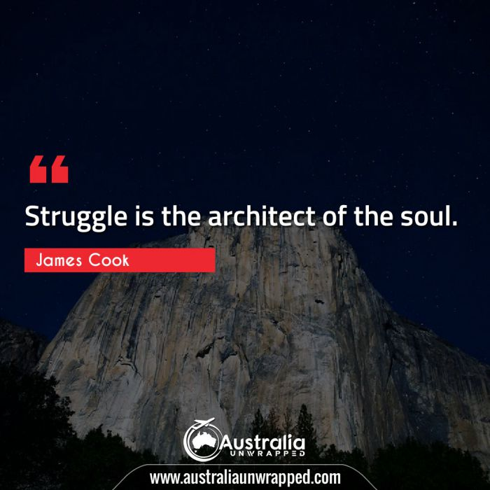 Struggle is the architect of the soul.