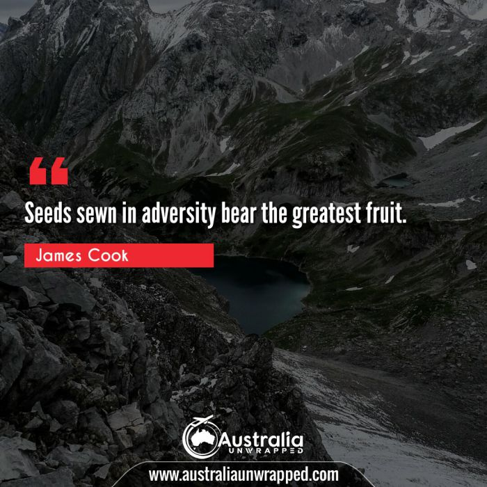 Seeds sewn in adversity bear the greatest fruit.