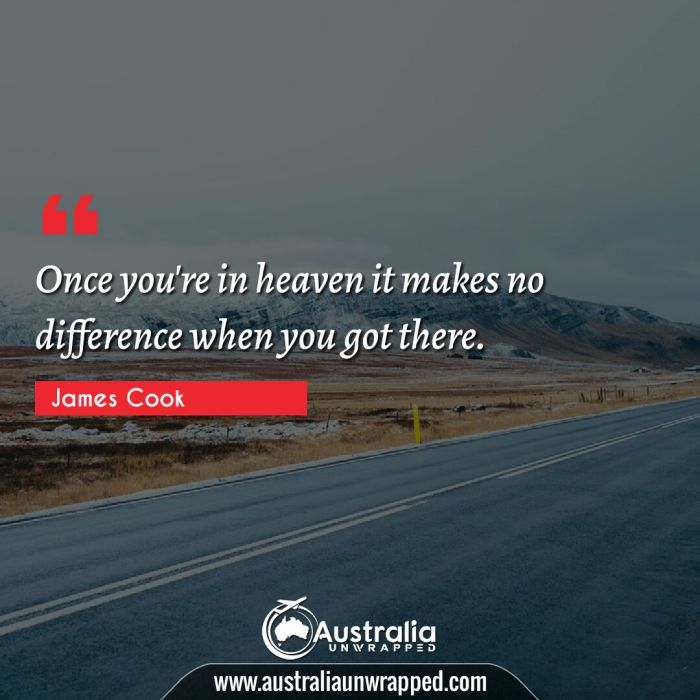Once you're in heaven it makes no difference when you got there.