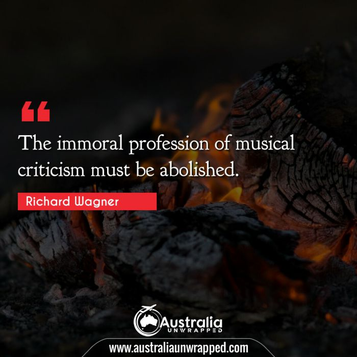 The immoral profession of musical criticism must be abolished.