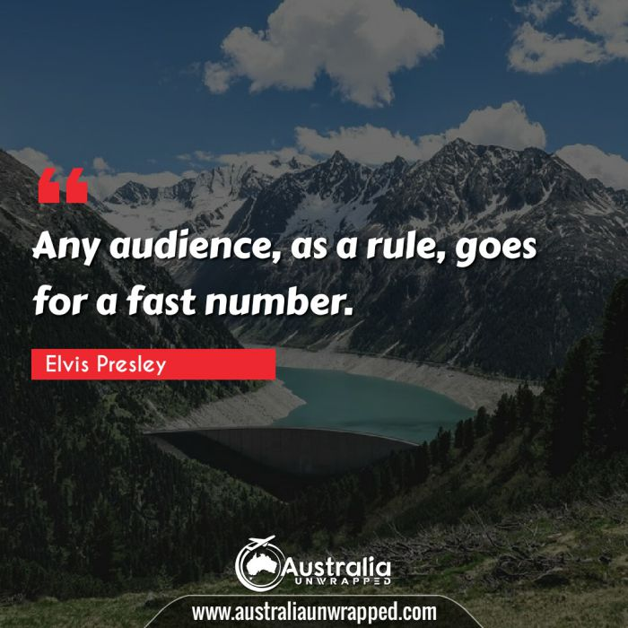 Any audience, as a rule, goes for a fast number.