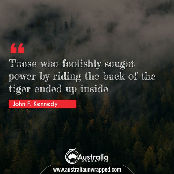 Those who foolishly sought power by riding the back of the tiger ended up inside