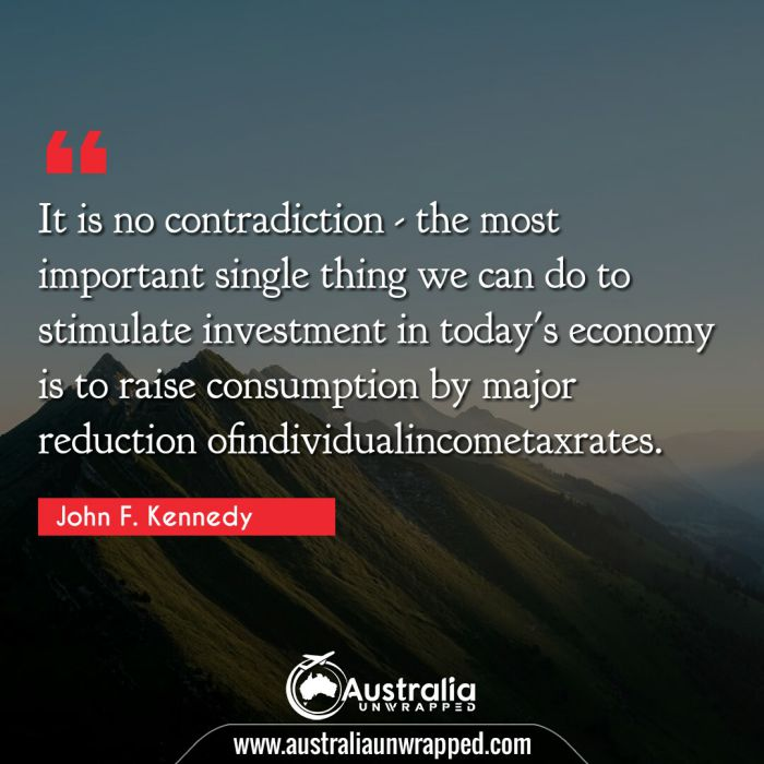 It is no contradiction - the most important single thing we can do to stimulate investment in today's economy is to raise consumption by major reduction ofindividualincometaxrates.