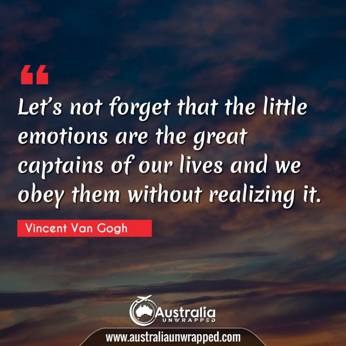 Let's not forget that the little emotions are the great captains of our lives and we obey them without realizing it.