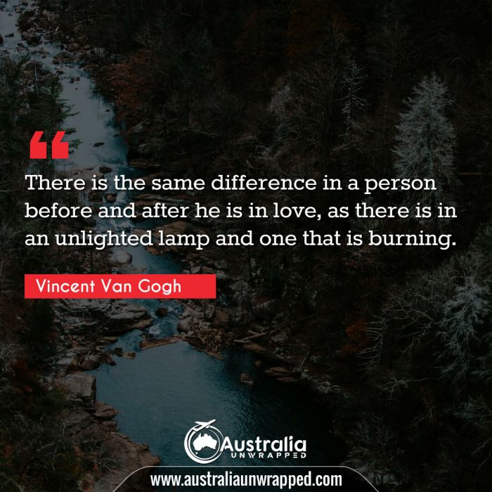 There is the same difference in a person before and after he is in love, as there is in an unlighted lamp and one that is burning.