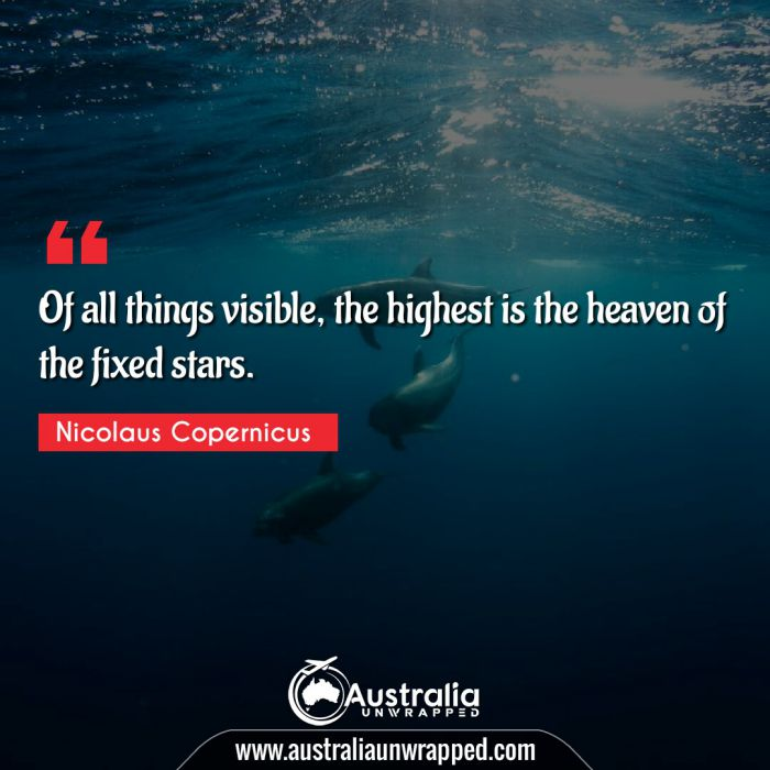 Of all things visible, the highest is the heaven of the fixed stars.