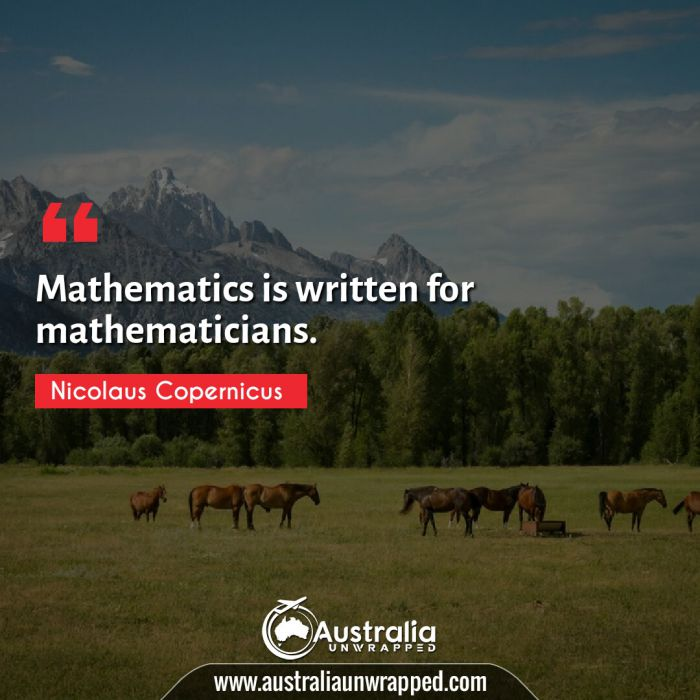 Mathematics is written for mathematicians.