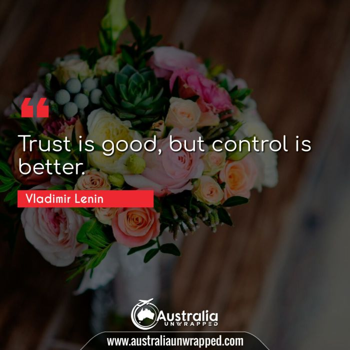 Trust is good, but control is better.