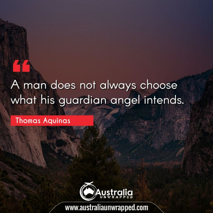 A man does not always choose what his guardian angel intends.