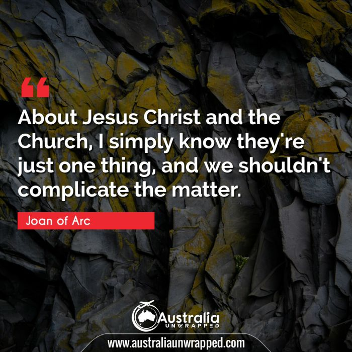 About Jesus Christ and the Church, I simply know they're just one thing, and we shouldn't complicate the matter.