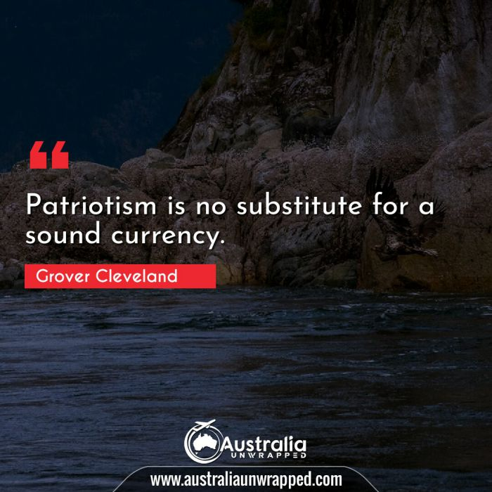 Patriotism is no substitute for a sound currency.