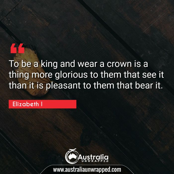 To be a king and wear a crown is a thing more glorious to them that see it than it is pleasant to them that bear it.