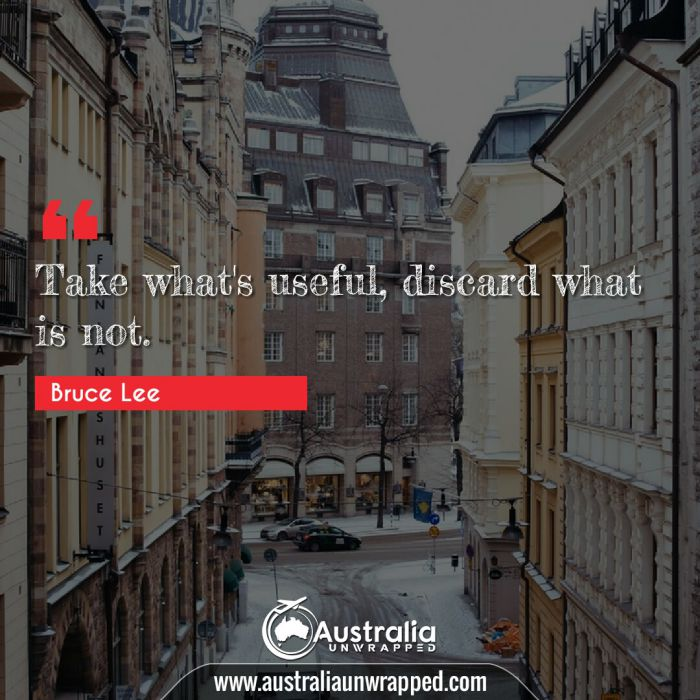 Take what's useful, discard what is not.