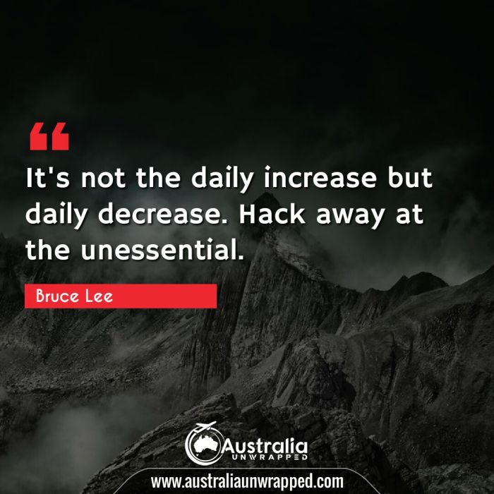 It's not the daily increase but daily decrease. Hack away at the unessential.