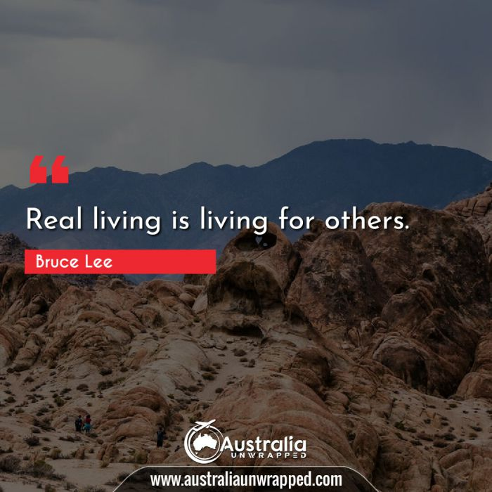 Real living is living for others.