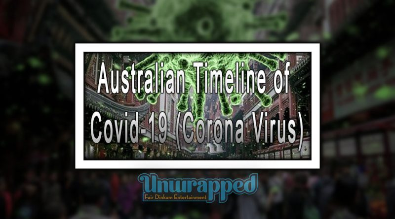 Australian Timeline of Covid-19 (Corona Virus)