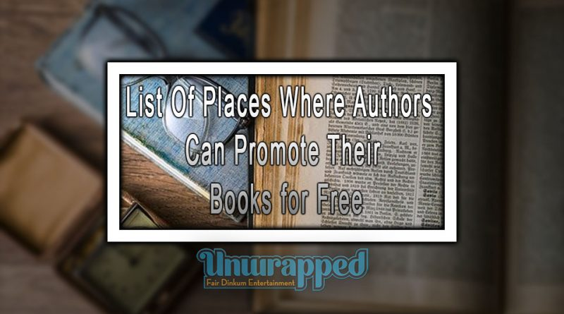 List Of Places Where Authors Can Promote Their Books for Free