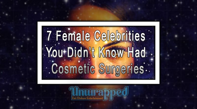 7 Female Celebrities You Didn't Know Had Cosmetic Surgeries