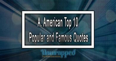 A. American Top 10 Popular and Famous Quotes