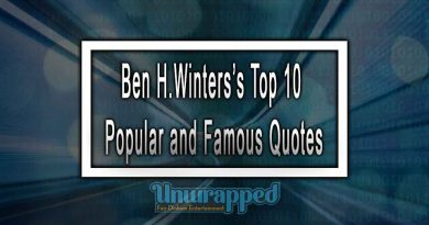Ben H.Winters's Top 10 Popular and Famous Quotes