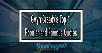 Gwyn Cready's Top 1 Popular and Famous Quotes