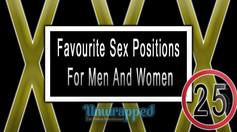 Favourite Sex Positions For Men And Women